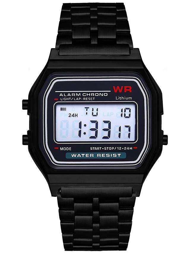 Women's Men's Digital Watch Digital Digital Minimalist Chronograph LCD Casual Watch / One Year