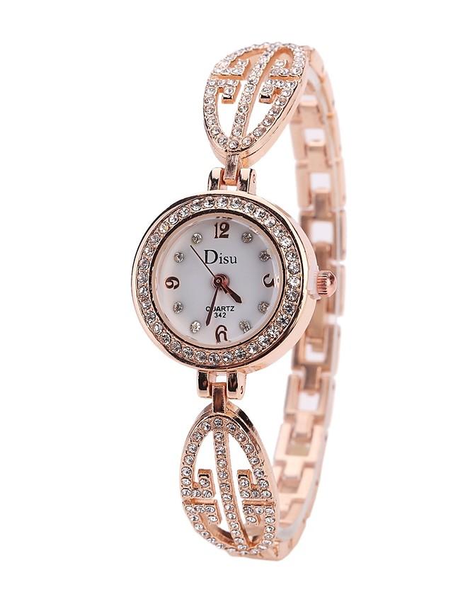 Women's Luxury Watches Bracelet Watch Wrist Watch Quartz Ladies Casual Watch Silver / Rose Gold Analog - Rose Gold Gold / White Rose Gold / White One Year Battery Life / Imitation Diamond