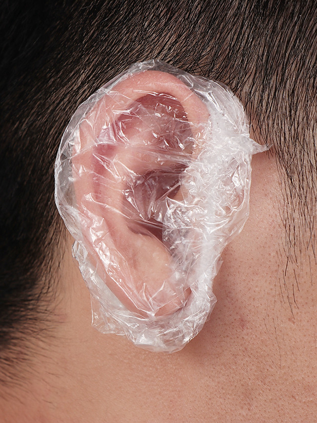100Pcs Disposable Ear Caps Waterproof Earmuffs Shower Hair Coloring Dye Ear Protector Cover Shield Barber Tool