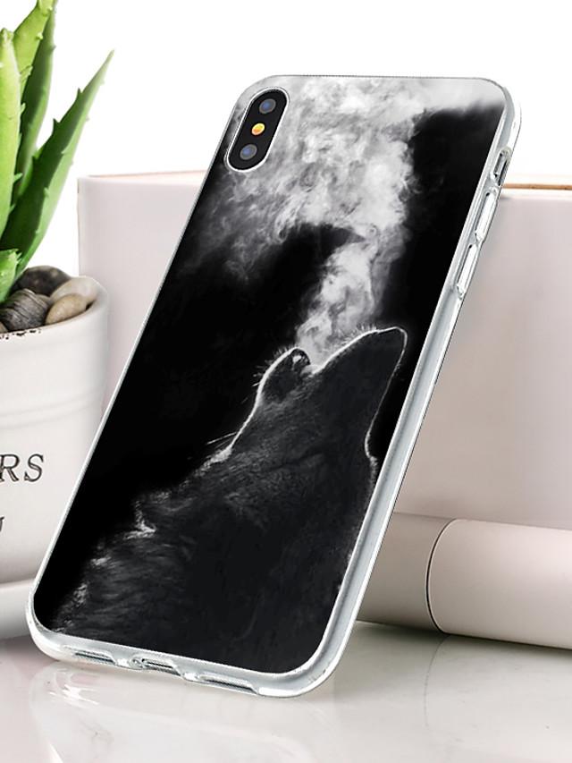 Θήκη Za Apple iPhone XS Protiv prašine / Ultra tanko / Uzorak Stražnja maska Životinja Mekano TPU