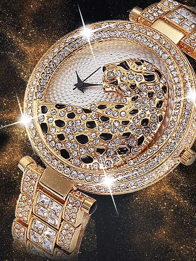 Women's Wrist Watch Diamond Watch Gold Watch Japanese Quartz Ladies Creative Analog Gold / Silver / White Gold Silver / Two Years / Stainless Steel / Stainless Steel / Imitation Diamond / Two Years
