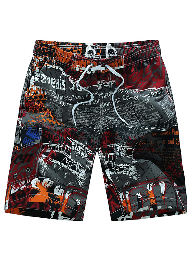 Hombre Estilo Playero Tropical Tallas Grandes Playa Corte Ancho Shorts Bermudas Pantalones Retazos Estampado Azul Piscina Rojo Verano 5592567 2021 16 49