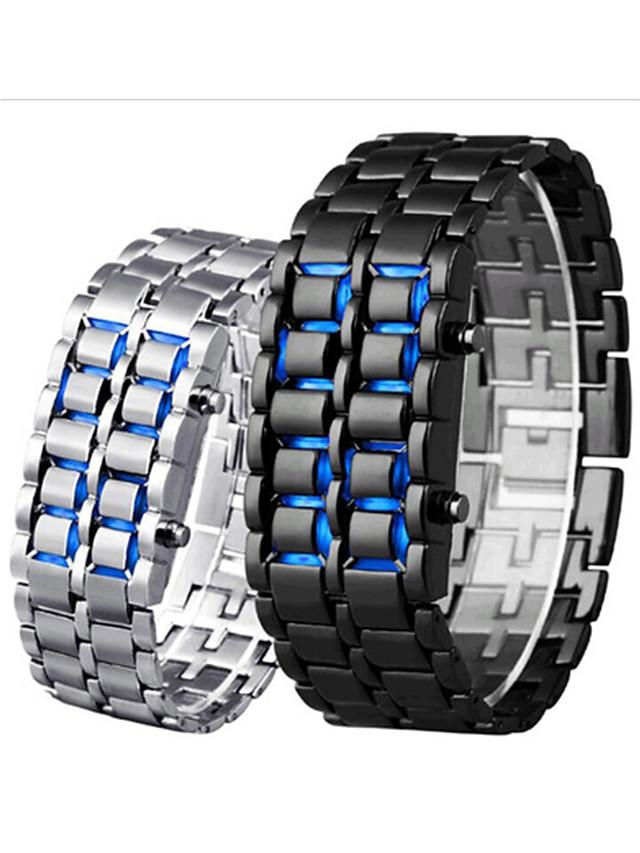 Men's Digital Watch Digital Digital Fashion Water Resistant / Waterproof Creative LCD / Stainless Steel