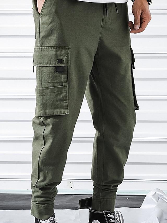 Hombre Basico Delgado Pantalones Tipo Cargo Pantalones Un Color Negro Verde Ejercito Xxl Xxxl Xxxxl 7294608 2021 29 69