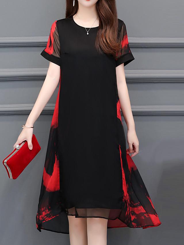 Damen Boho Anspruchsvoll überdimensional A-Linie Kleid ...