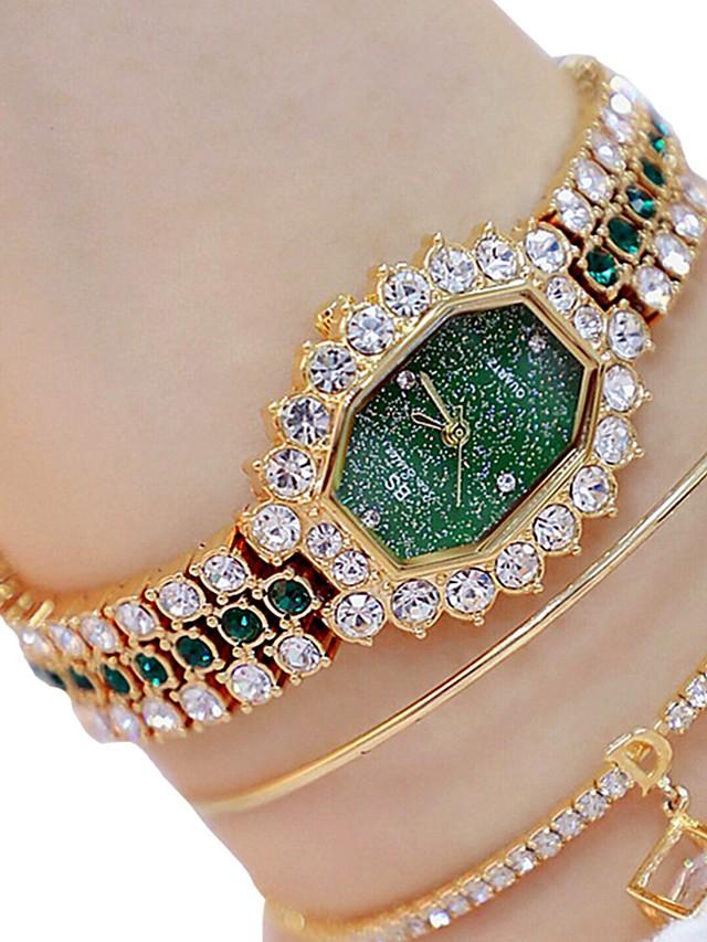 Women's Quartz Watches Quartz Glitter Sparkle Luminous Silver / Gold / Rose Gold Analog - Rose Gold Gold Silver Two Years Battery Life / Imitation Diamond