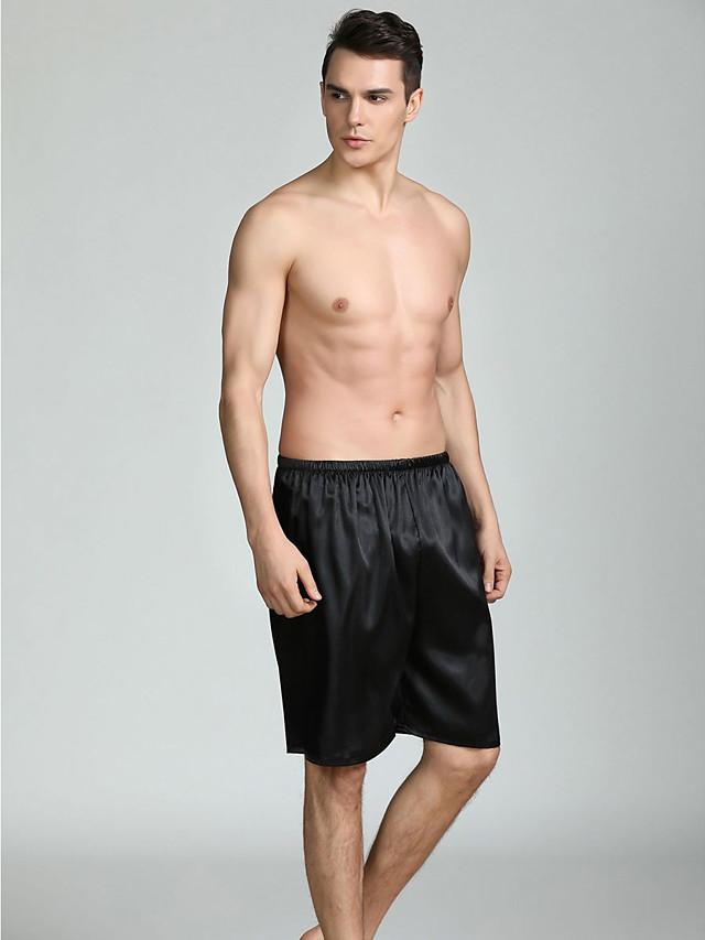 Hombre Tallas Grandes Escote Redondo Saten Y Seda Pijamas Separado Un Color Verano Sexy 7295681 2020 11 54