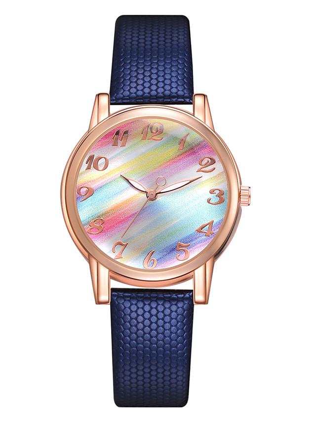 Women's Quartz Watches Quartz Stylish Fashion Casual Watch PU Leather Black / White / Blue Analog - White Black Blue One Year Battery Life