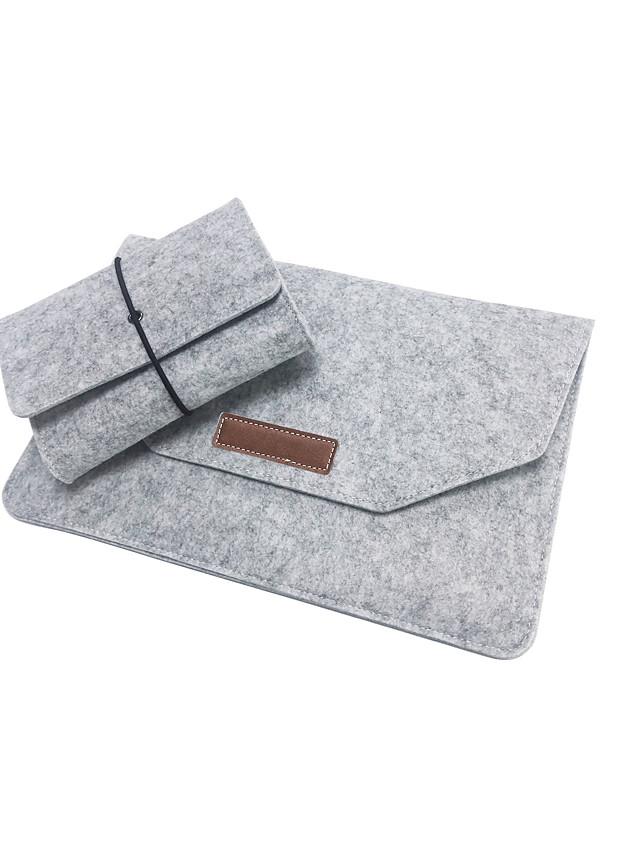 Notebook felt bag for 11/12/13/15 inch laptop bag plus power pack
