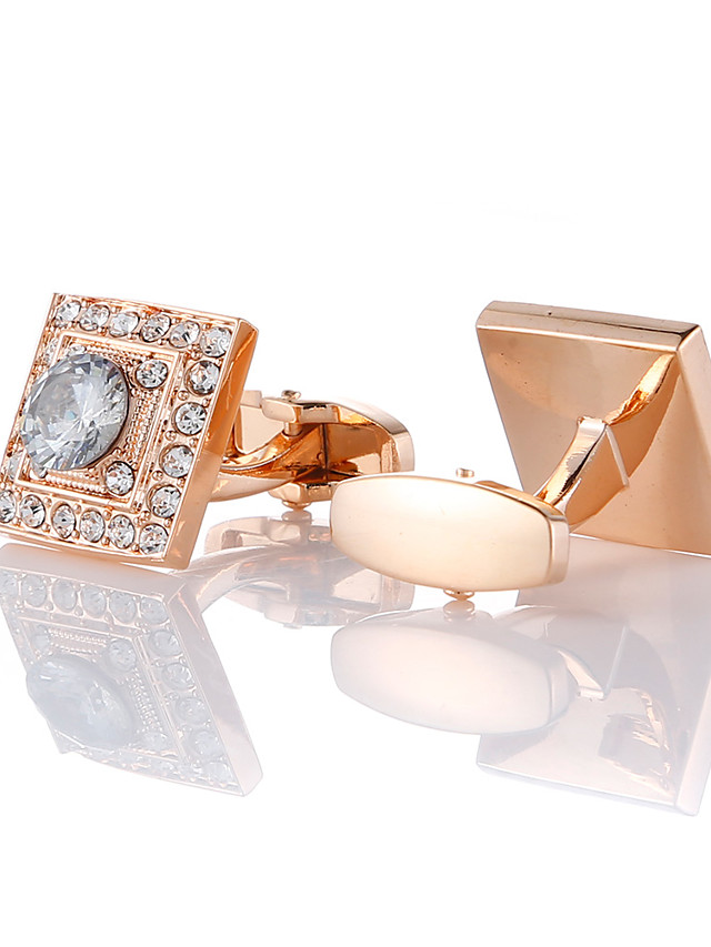 Cufflinks Fashion Brooch Jewelry Rose Gold For Gift Daily
