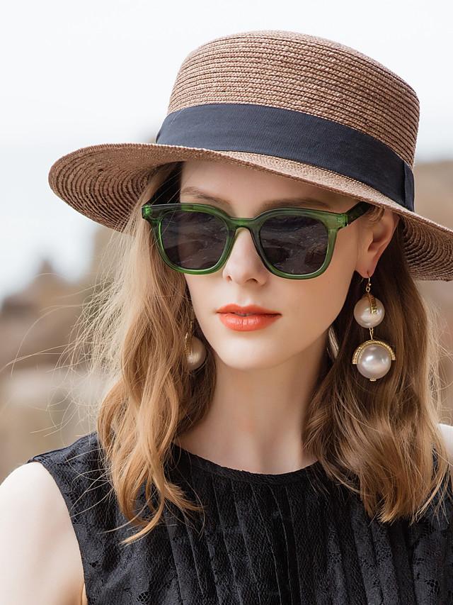 الألياف الطبيعية قبعات القش مع توب ساده 1PC فضفاض / مناسب للبس اليومي خوذة