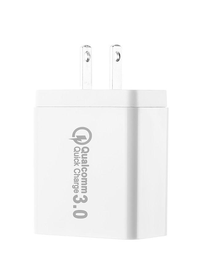 US Plug QC3.0 Quick USB Charge Multi-Output 3 USB Ports DC5V 2.1A 100240V Fast USB Charge Support Phone/Table and Other Devices
