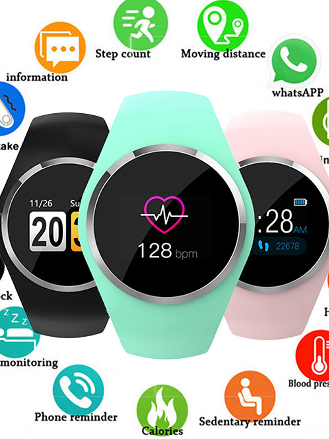 Q1 Smart Watch Women 0.96 Color LCD Screen Blood Pressure Heart Rate Monitor Smartwatch For Android IOS
