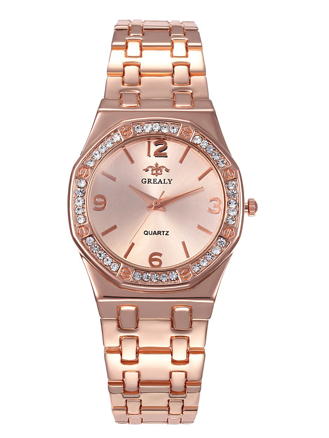 Women's Steel Band Watches Digital Stylish Luxury Casual Watch Silver Analog - Digital - Rose Gold Gold Silver One Year Battery Life