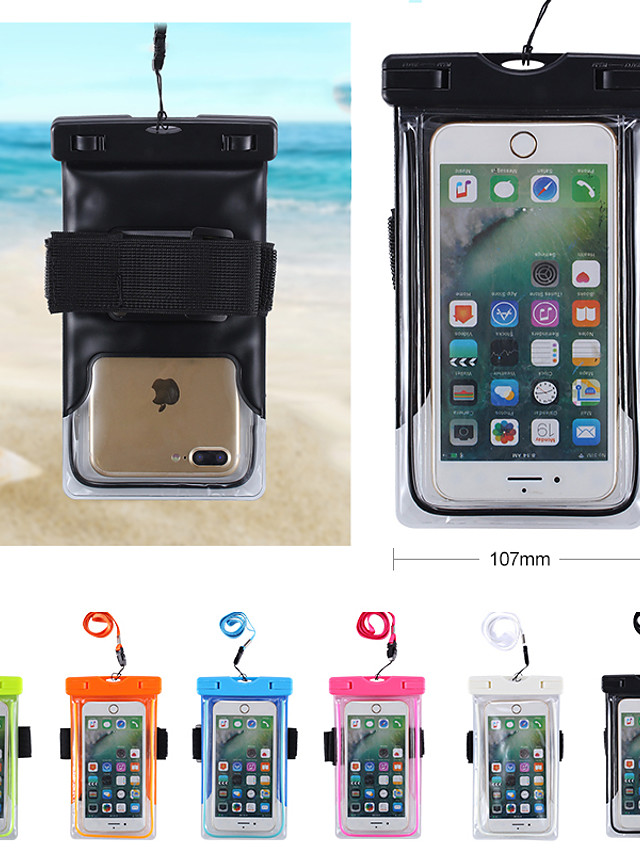 Case For Universal Universal Water Resistant / Waterproof Waterproof Pouch Solid Colored Soft PVC for Universal Velcro outdoor swimming neck hanging cell phone bag unisex 6 inch
