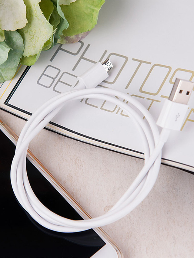 Micro USB Cable Normal / Braided TPE / PP USB Cable Adapter For Samsung / Huawei / Nokia