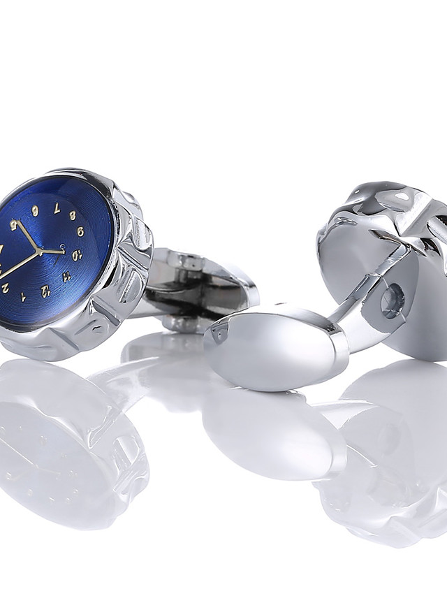 Cufflinks Fashion Brooch Jewelry Silver For Gift Daily
