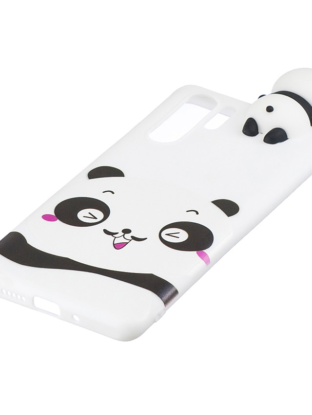 For HUAWEI P30 pro 3D Cute Coloured Painted Animal TPU Anti-scratch Non-slip Protective Cover Back Case