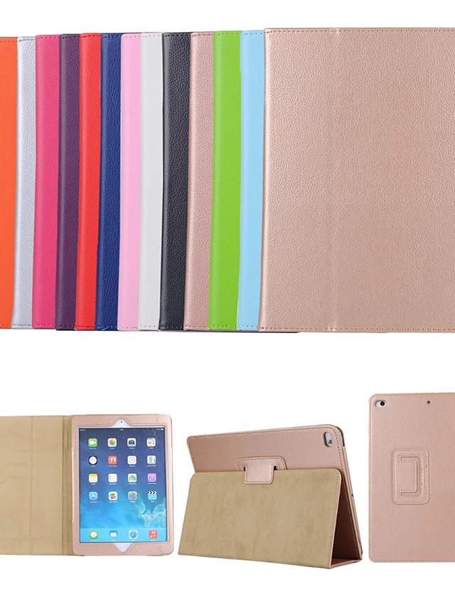 Case For Apple iPad Mini 3/2/1 / iPad Mini 4 / iPad Mini 5 with Stand / Flip Full Body Cases Solid Colored Hard PU Leather