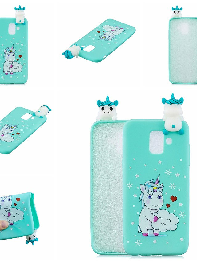 Case For Samsung Galaxy Galaxy A50(2019) Shockproof / Ultra-thin / Squishy Back Cover Animal / Cartoon / 3D Cartoon Soft TPU