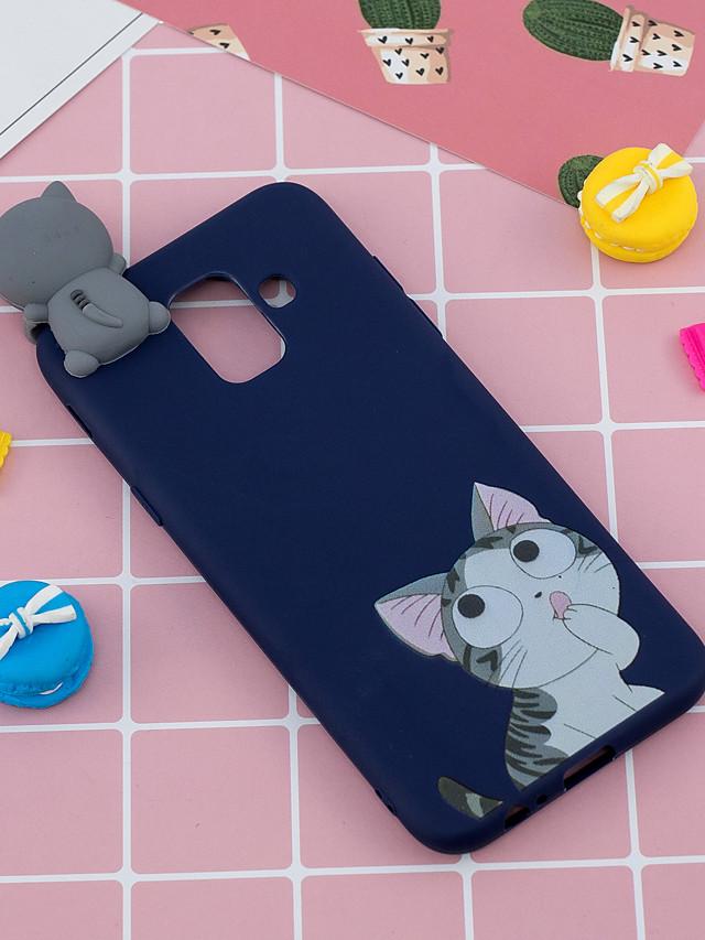 Case For Samsung Galaxy A6 (2018) Shockproof / Ultra-thin / Squishy Back Cover Animal / Cartoon / 3D Cartoon Soft TPU