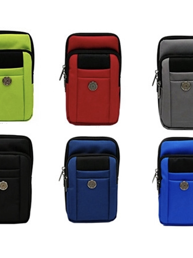 6.8 inch Hanging Pen Set Case For Universal Card Holder Pouch Bag Solid Colored Soft Oxford Cloth