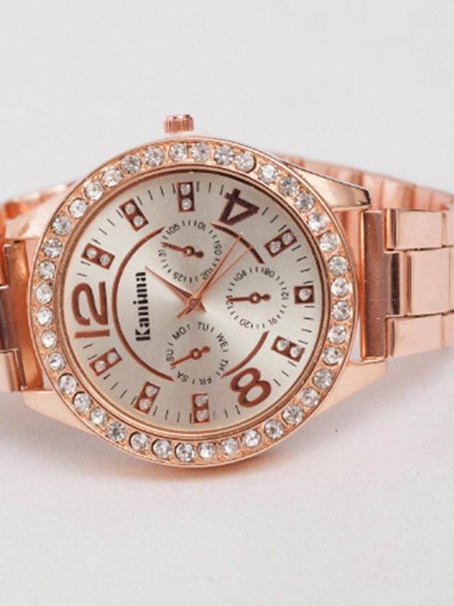 Women's Dress Watch Quartz Stainless Steel Casual Watch Analog Classic - Gold Silver Fuchsia