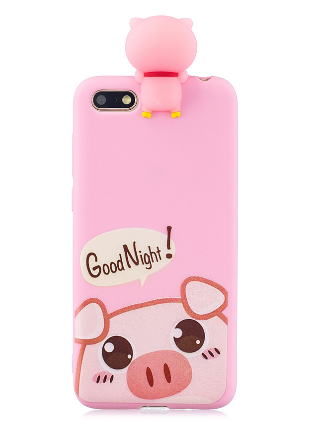 For HUAWEI Y5 2018 3D Cute Coloured Painted Animal TPU Anti-scratch Non-slip Protective Cover Back Case