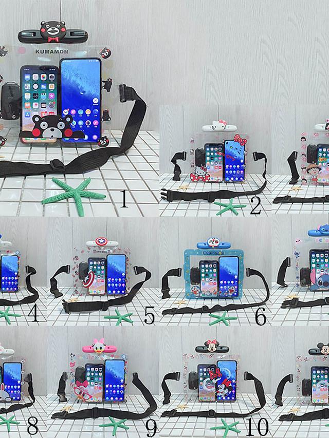 Mobile Phone Waterproof Bag Outdoor Pvc Waterproof Cover Swimming Hanging Neck Unisex Cartoon Animals