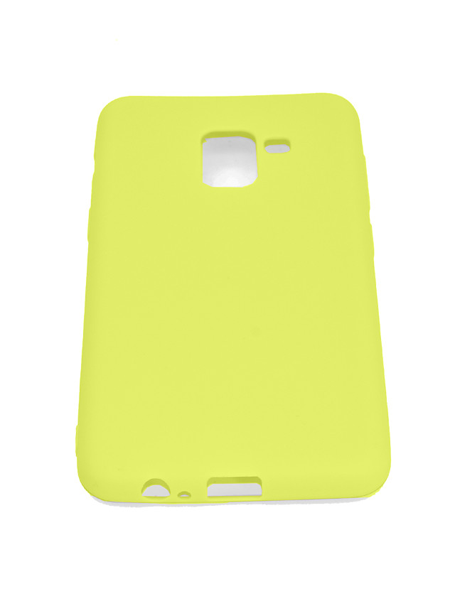Case For Samsung Galaxy A8 2018 Shockproof / Dustproof Back Cover Solid Colored Soft TPU / Silica Gel