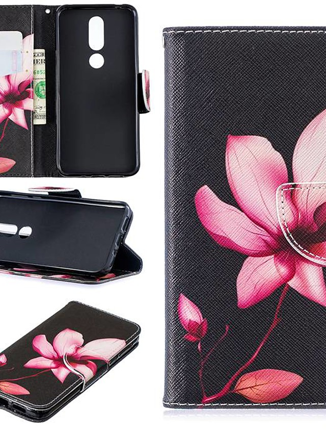 Case For Nokia 3.2 / Nokia 6 2018 Magnetic / Flip / with Stand Full Body Cases Flower Hard PU Leather for Nokia 1 / Nokia 1 Plus / Nokia 2/Nokia 2.1/Nokia 3.1/Nokia 5.1/Nokia 4.2/Nokia 8/Nokia 7.1