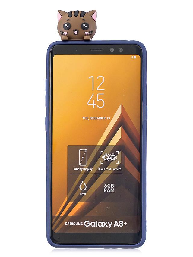 מארז עבור Samsung a8 2018 3D חמוד צבעוני צבוע בעל חיים tpu anti-scratch Non-slip מגן כיסוי במקרה חזרה