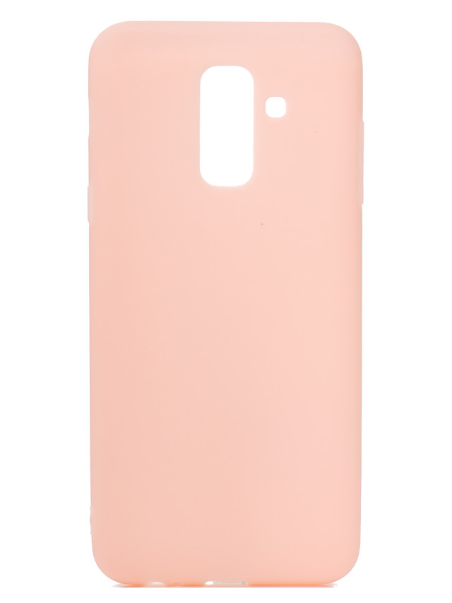 for Samsung A6 plus 2018 Lovely Candy Color Matte TPU Anti-scratch Non-slip Protective Cover Back Case