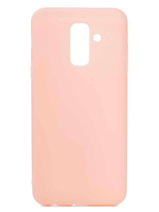 מארז עבור סמסונג a6 פלוס 2018 מקסים צבע ממתק מאט tpu anti-scratch Non- להחליק כיסוי מגן במקרה חזרה