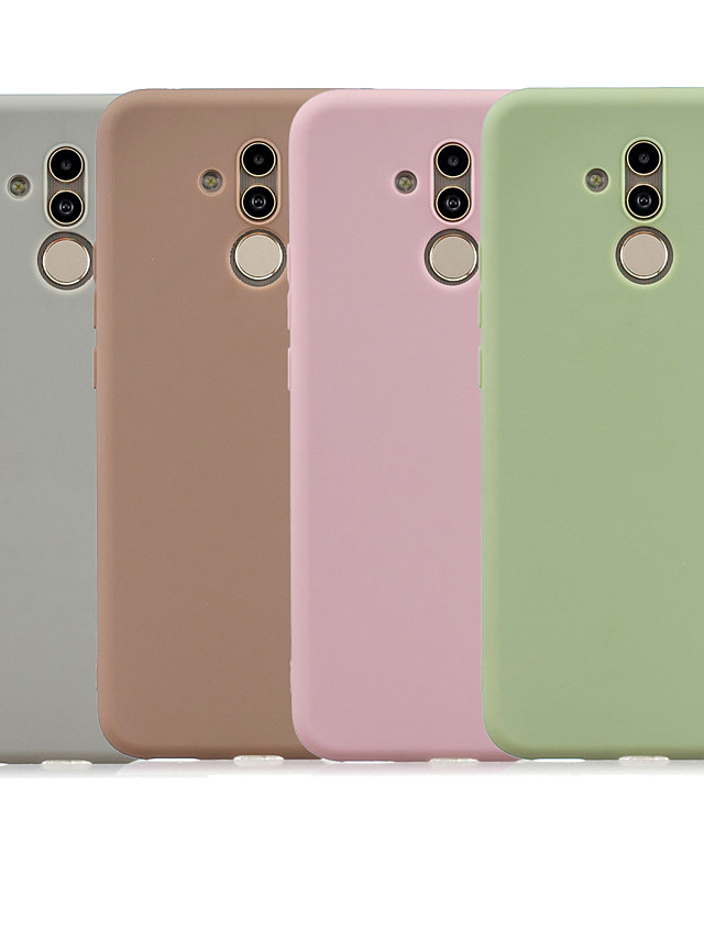 Case For Huawei Mate 10 lite / Huawei Mate 20 lite Frosted Back Cover Solid Colored Soft TPU