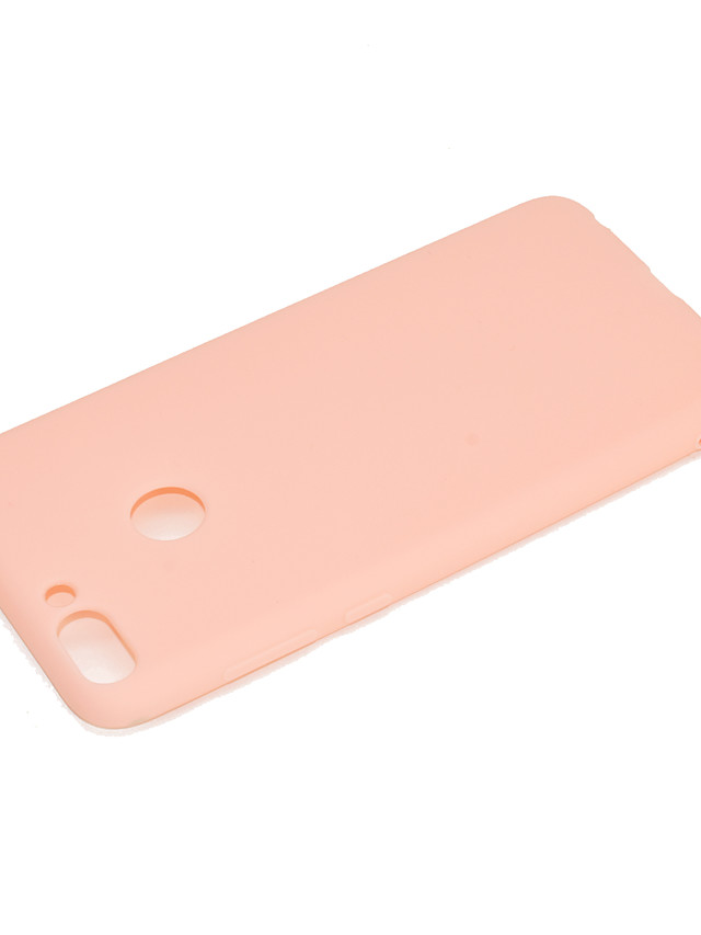 Case For Huawei Huawei Honor 9 Lite Shockproof / Dustproof Back Cover Solid Colored Soft TPU / Silica Gel