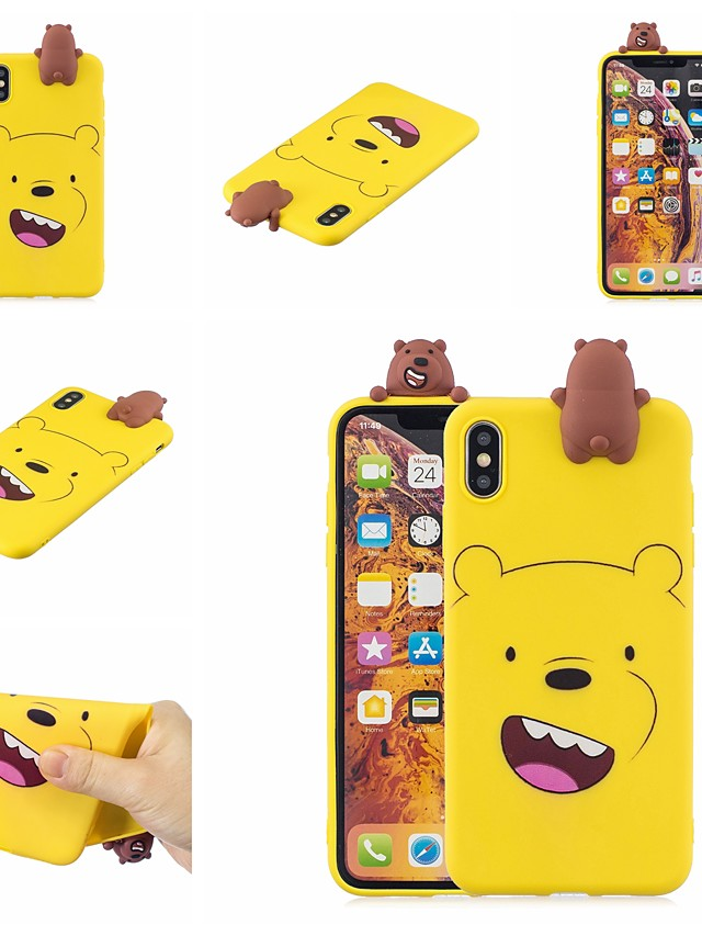 Case For Huawei Huawei Y7 2019 Shockproof / Ultra-thin / Squishy Back Cover Animal / Cartoon / 3D Cartoon Soft TPU