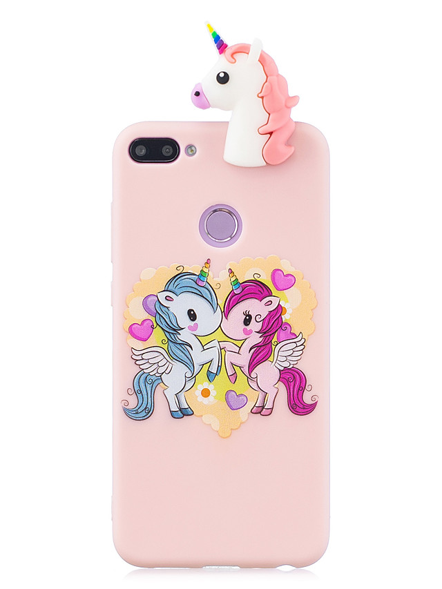 For HUAWEI Honor 10 lite 3D Cute Coloured Painted Animal TPU Anti-scratch Non-slip Protective Cover Back Case