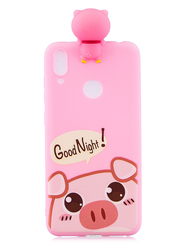 For Samsung A30 3D Cute Coloured Painted Animal TPU Anti-scratch Non-slip Protective Cover Back Case