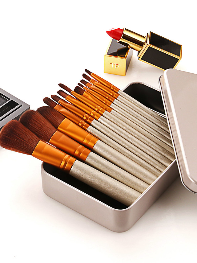 Professional Makeup Brushes 12pcs Professional Soft Full Coverage Comfy Wooden / Bamboo for Makeup Set Eyeshadow Kit Makeup Tools Blemish Tools Blush Brush Foundation Brush Makeup Brush Lip Brush