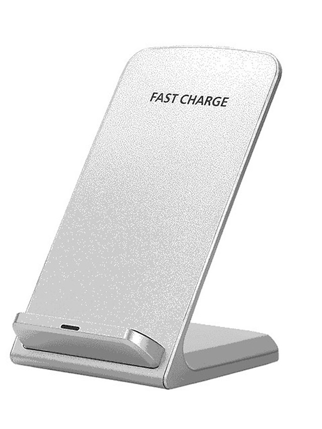QI Wireless Charger Quick Charge 2.0 Fast Charging for iPhone 8 10 X Samsung S6 S7 S8 2-Coils Stand 5V/2A & 9V/1.67A