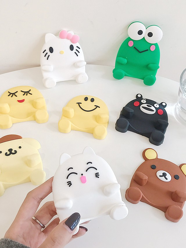 Cute Non-slip Cartoon Phone Stand Mobile Phone Holder Support Desk Decor Phone Bracket for IPhone X XR 8 XiaoMi Huawei Samsung