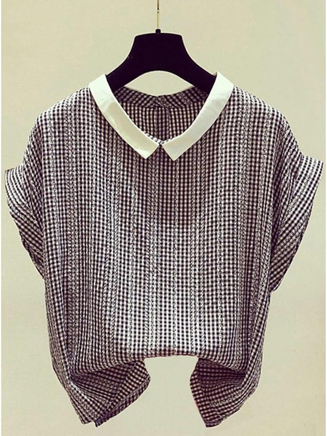Kadın's Gömlek Çizgili Siyah