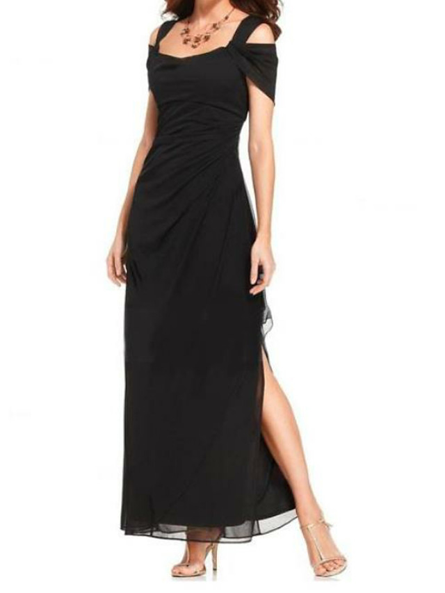 Sheath / Column Mother of the Bride Dress Plus Size Spaghetti Strap Floor Length Chiffon Short Sleeve with Split Front Ruching 2020
