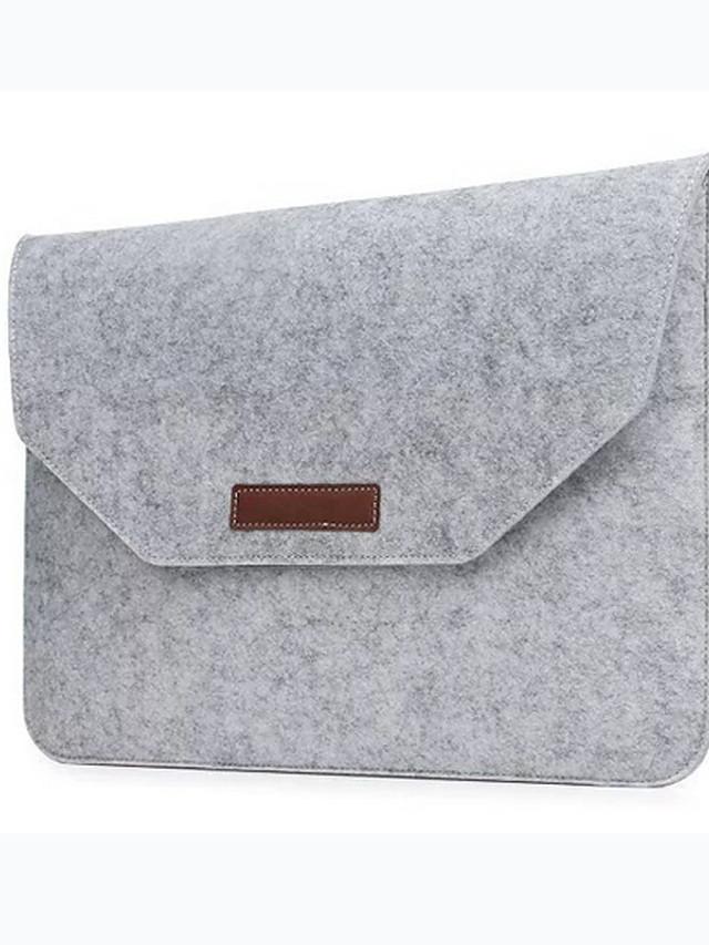 Fashion Wool Felt Laptop Sleeve Bag Notebook Handbag Case For Macbook Air Pro Retina 11 13 15 Inch Laptop Liner Bag