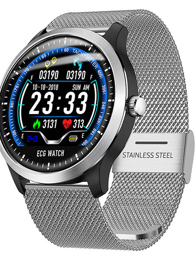 Smartwatch Digital Modern Style Sporty Silicone 30 m Water Resistant / Waterproof Heart Rate Monitor Bluetooth Digital Casual Outdoor - Black / Gray Yellow Silver / Calendar / date / day / Large Dial