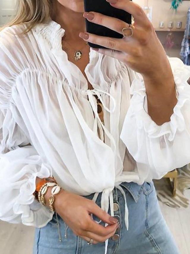 Bluza Žene Dnevno Jednobojni V izrez Obala