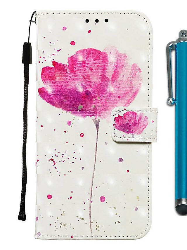 Case For Apple iPhone 11 / iPhone 11 Pro / iPhone 11 Pro Max Wallet / Card Holder / with Stand Full Body Cases One Flower PU Leather for iPhone X / Xs / Xr / Xs Max / 8 Plus / 6s Plus