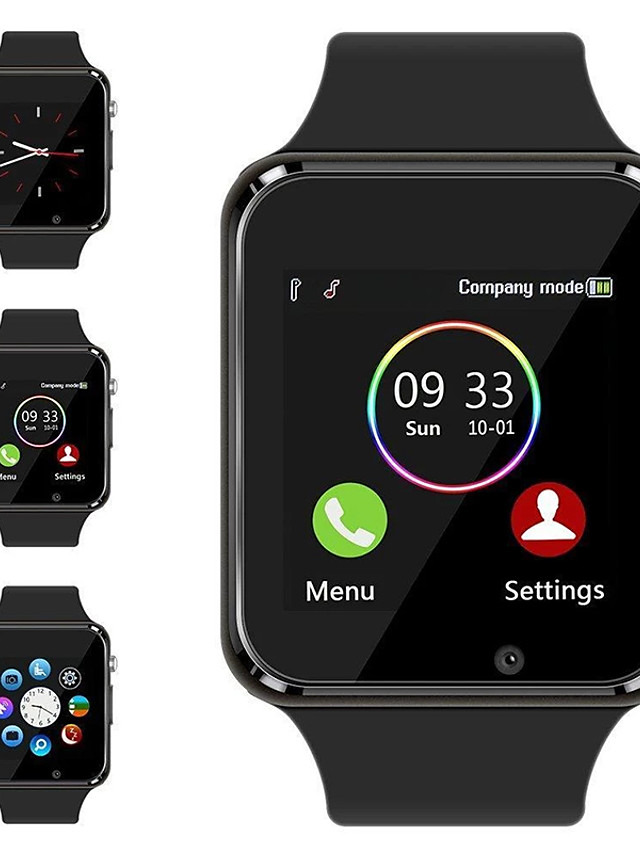 a1 nadgarstek zegarek bluetooth inteligentny zegarek sport pedometr z aparatem sim smartwatch dla android smartphone