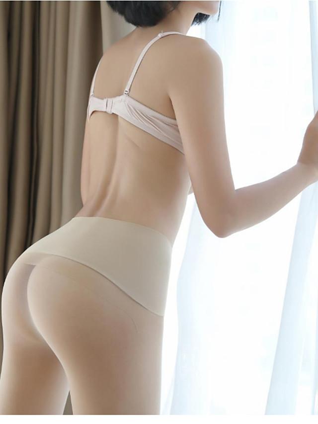 Women's Thin Pantyhose - Sexy / Lace 30D Khaki Black Beige One-Size